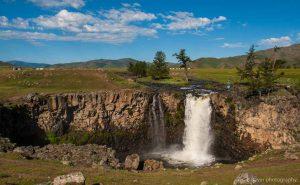 Tsutgalan Wasserfall Mongolei