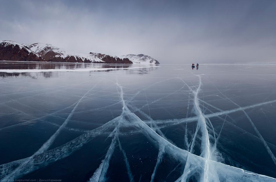Schlittschuh Wandern Baikalsee