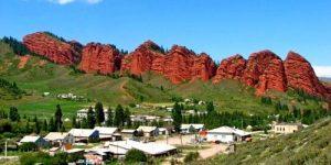 Jeti oegues schlucht Kirgistan