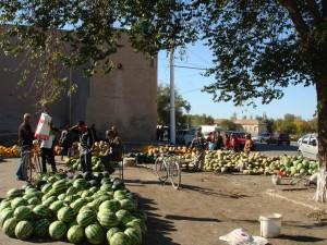 Usbekistan, Chiwa, Melonen-Markt
