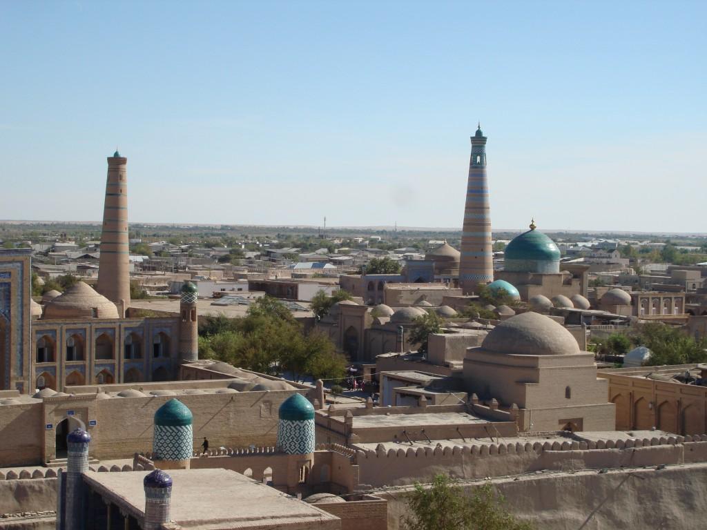 Reiseziel Usbekistan, Panorama Chiwa, Städtereise