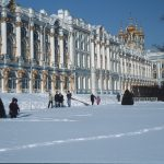 Katharinenpalast in Pushkin im Winter