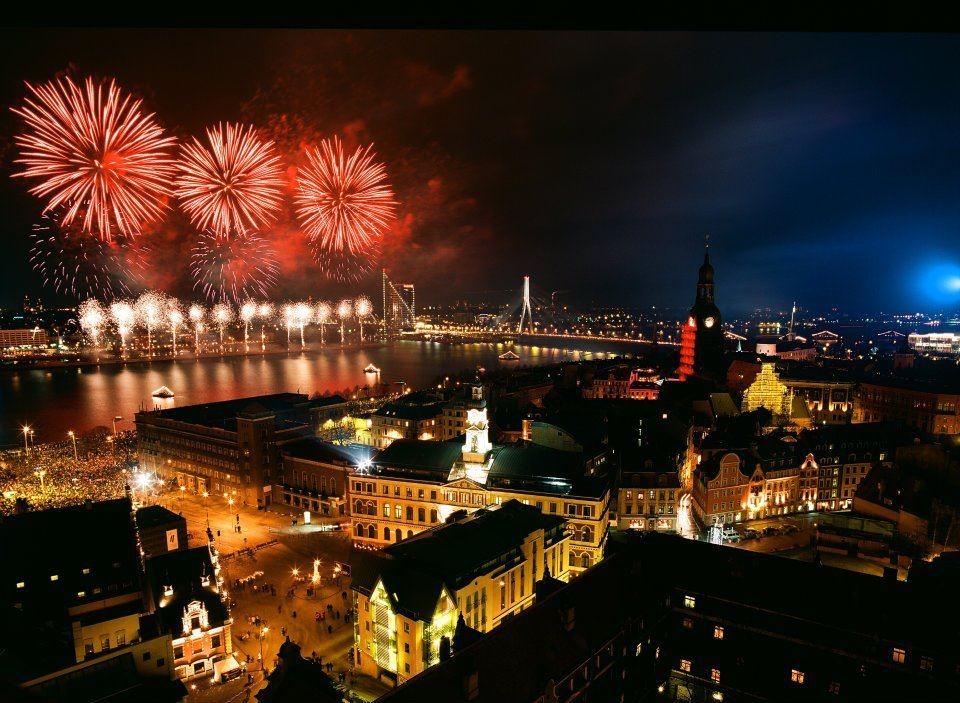 Riga, Lettland, Silvester