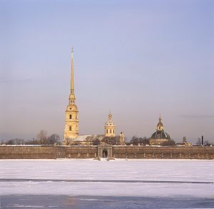 St. Petersburg, Russland, Peter- und Paul Festung im Winter