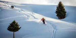 Skiläufer Kirgistan