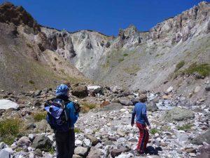 Bild zeigt Wanderer im Pamir Gebirge