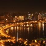 Baku Nacht Aserbaidschan