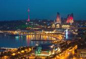 Baku, Abend-Stadtrundfahrt 1001 Nacht