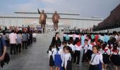 Nordkorea: Flug über Pjöngjang