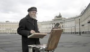 Russland, St. Petersburg Schlossplatz, Maler, Foto-Copyright Ella Reznik-Elkhanova