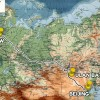 Karte Reiseroute 3 Hauptstädte Transsibirische Eisenbahn