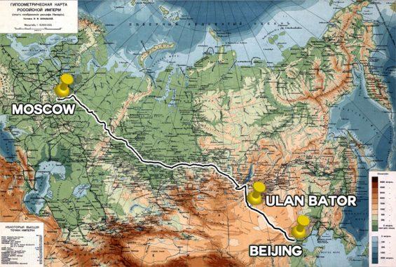 3 Hauptstädte, Karte