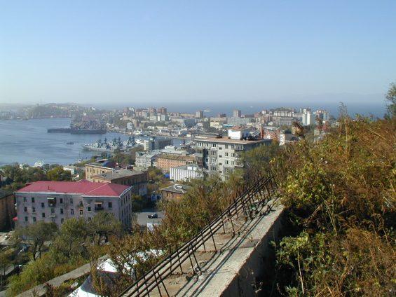 Bild Wladiwostok auf den Hafen
