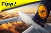 Lufthansa Maschine über den Wolken
