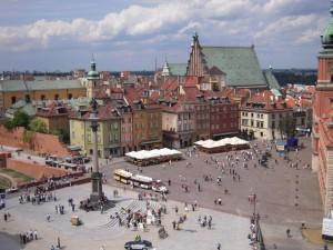 Schlossplatz, Warschau, Polen