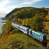 Zug am Baikalsee Baikalbahnahn