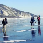 Schlittschuh Baikalsee